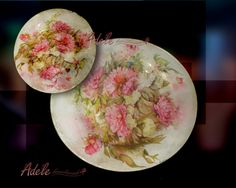 piatti decorati  sottovetro