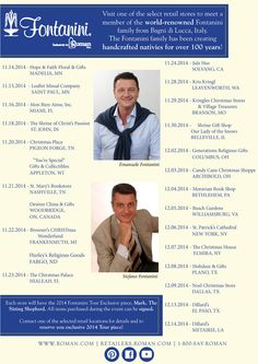 The 2014 Tour Schedule is out!!! Come see Emanuele & Stefano Fontanini at a store near you this year! Visit out Facebook for event times & addresses!