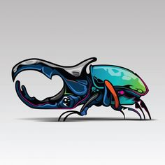 Color Concept, Concept Art, Cartoon Posters, Cartoon Drawings, Couple Cartoon Characters, Beetle Drawing, Rhino Beetle, Carapace, June Bug