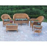 Found it at Wayfair - Resin Wicker 5 Piece Seating Group with Cushions