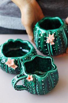 Студия керамики Julia Shi OFF our custom mugs from our store. Gift for him, gift for her, gift for mom, gift for dad and so on. Pottery Mugs, Ceramic Pottery, Ceramic Art, Cactus Ceramic, Ceramic Mugs, Ceramic Pinch Pots, Ceramic Studio, Pottery Ideas, Ceramics Projects