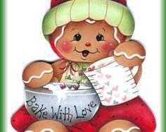 Pintura de pan de jengibre Cook E-patrón un por GingerbreadCuties