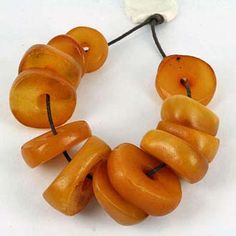 Old Amber Trade Beads - African Trade