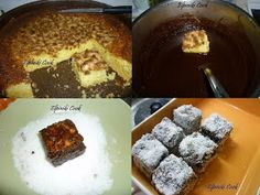 Chionati (Snow White) - Cake with chocolate and coconut topping Coconut Deserts, Greek Cooking, Chocolate Cake, French Toast, Sweets, Candy, Breakfast, Desserts, Food