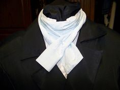 Ascot or Carvat soft Blue silky fabric 4 x 60 Mens by civilwarlady