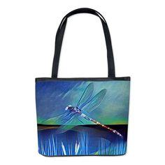 Dragonfly Pond Bucket Bag on CafePress.com