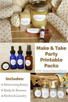 Make & Take Party Packs: Set #2 Kitchen & Laundry Cleaning, Moisturizing Beauty, and Ready for Romance