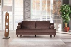 Stella Jennefer Brown Queen Sofa Bed with Storage by Istikbal Furniture Futon Couch, Sleeper Sofa, Sofa Bed With Storage, Queen Size, Storage Spaces, Love Seat, Living Spaces, Upholstery, Sunset