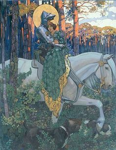 St. George with the Libyan Princess, Maximilian Liebenwein (1903)