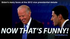 JOE BIDEN'S 'CREEPY' laughter during VP DEBATE turns TWITTER against him.   click to read comments