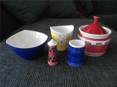 Annons på Tradera: Diverse porslin Picknick, Marianne Westman. Keramik Design, Vintage Ceramic, Scandinavian Design, Dinnerware, Mid Century, Museum, Ceramics, Mugs, Retro