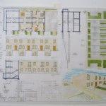 Esame di Stato per Architetti, sezione A – La Prova Grafica, Il tema di Progettazione, esempio completo CASE A SCHIERA (con tavola svolta)