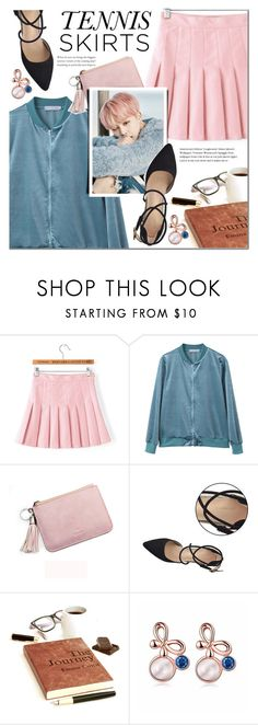 """""""NEWCHIC tennis skirts"""" by mada-malureanu ❤ liked on Polyvore featuring GetTheLook, tennisskirts and lovenewchic"""