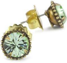 Sorrelli Elegant Jackie Gold-Tone Stud Earrings