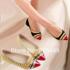 New 2014 Women Flats Rivet Gingham Patchwork Pointed Toe Vintage genuine leather Shoes Mocassin Shoe For Women sapatos femininos $39.90
