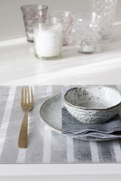 "UASHMAMA Tisch-Set ""Stripe"", silver By : UASHMAMA"