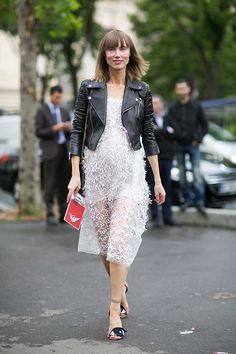 Anya Ziourova in Dior leather jacket