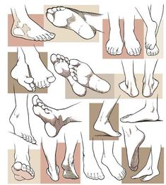 manga-feet... ✤ || CHARACTER DESIGN REFERENCES |
