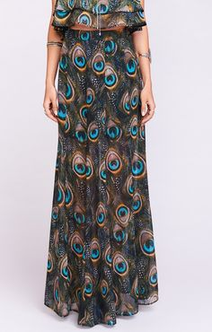 Princess Di Ballgown Maxi Skirt ~ Feather Fans