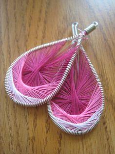 Handmade pink Peruvian Thread String Art by DesignsbyTiffanyJ, $12.00