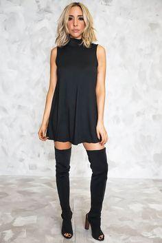 Everyday High Neck Sleeveless Dress