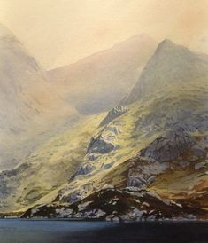 Llyn Bochlwyd and the Gribin, an original watercolour painting by Rob Piercy