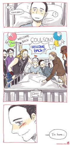 AWWW!!! Cooouuuuulllllssssooooonnn!! I love how Tony is in bed with him and prisoner Loki lurking on the back lol