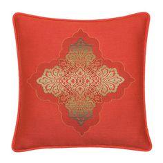 """Elaine Smith 20"""" designer throw pillow - Coral Medallion"""