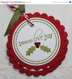 Peace Love and Joy Christmas Gift Tags