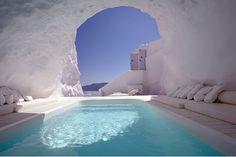 Cave pool in Satorini, Greece #mustvisit #holiday #travel #greece
