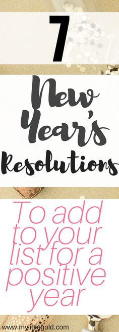 7 New Year's Resolutions To Add to Your List for a Positive Year 2018 is creeping up fast upon us and it's time to reflect and see how we can make it an even better year! Check out these resolutions to add to your own lists to have a more positive year Entrepreneur, First Blog Post, Blogging For Beginners, How To Better Yourself, Make Money Blogging, Resolutions, Happy Life, Personal Development, Reflection