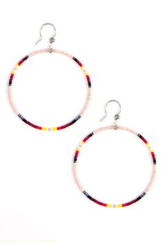 Chan Luu - Light Rose Mix Hoop Earrings, $55.00 (http://www.chanluu.com/earrings/light-rose-mix-hoop-earrings/)