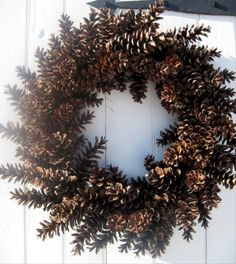 Pine Cone Wreath, Indoor or Outside Use, Fresh NC Natural Pinecones, Great Year Round Wreath, Fall, Decoration, Harvest Wreath by FEDELLITYGROUP on Etsy