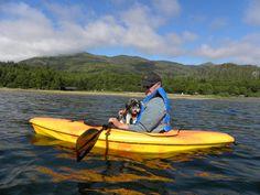 Dave and sailor dog Pali kayaking at Toquaht Bay, BC Canadian Travel, Kayaking, Boat Shoes, Sailor, Highlights, Scenery, Coast, Dog, Diy Dog