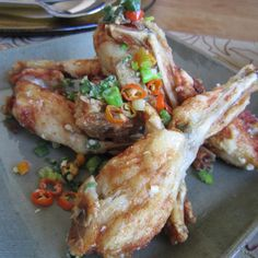 Simple salt & pepper frog legs, don't judge, frog legs are actually delicious