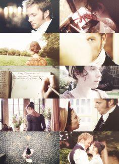 Rupert Penry-Jones (Captain Wentworth) & Sally Hawkins (Anne Elliot) - Persuasion directed by Adrian Shergold (TV Movie, 2007) #janeausten #fanart