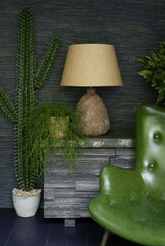 Cool chair Green and gray - Abigail Ahern's back garden Summer cabin