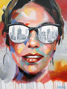 York City Art Painting - New York City by Julia PappasArt Painting - New York City by Julia Pappas Art Pop, Contemporary Abstract Art, Modern Art, City Painting, New York Painting, Painting Clouds, City Art, Hanging Art, Magazine Art