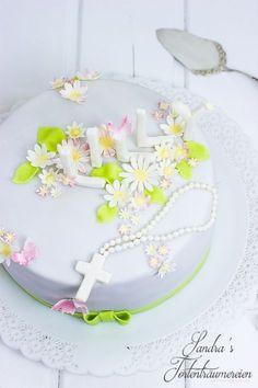 Sandra´s Tortenträumereien: {Motivtorte} Gänseblümchentorte zur Erstkommunion
