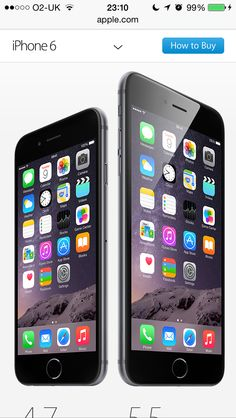 Apple iPhone 6 and 6s. The future of smart mobile technology