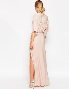 Image 3 of ASOS Kimono Plunge Maxi Dress