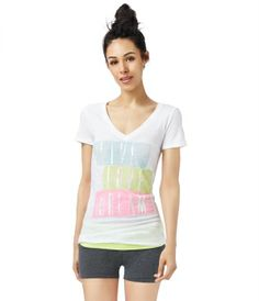 LLD Sequin Stack V-Neck Graphic T