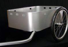 OX and Monkey aluminum-cargo-bin-in-silver. Electric Cycle, Bike Cart, Beach Cart, Bike Pic, Commuter Bike, Cargo Bike, Bike Accessories, Cool Bikes, Outdoor Gear
