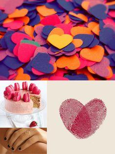 cute thumbprint hearts and confetti