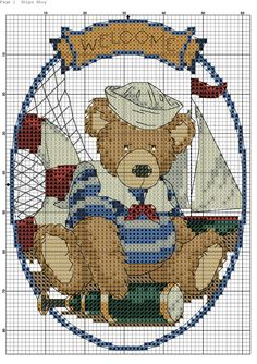 Zz Cross Stitch Boards, Cross Stitch Baby, Cross Stitch Embroidery, Cross Stitch Patterns, Ancient Egyptian Art, Le Point, Plastic Canvas Patterns, Needlepoint, Teddy Bear