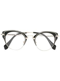 acae75caee Miu Miu Eyewear Cat Eye Glasses - Farfetch