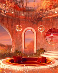 Architecture Restaurant, Interior Architecture, Interior And Exterior, Dream Home Design, My Dream Home, House Design, Retro Interior Design, Images Esthétiques, Rainbow Room