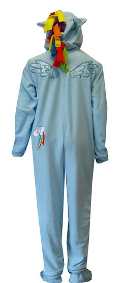 My Little Pony Rainbow Dash Fleece Onesie Footie Pajamas.... I would wear these to school :)