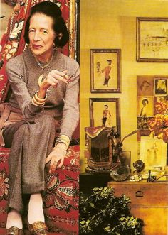 Diana Vreeland. Proof positive its all about style and talent --  not pretty features.