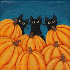 Black cats & pumpkins by Kilkennycat, via Flickr